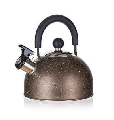 Konvice na čaj BANQUET Granite Brown 1.7L