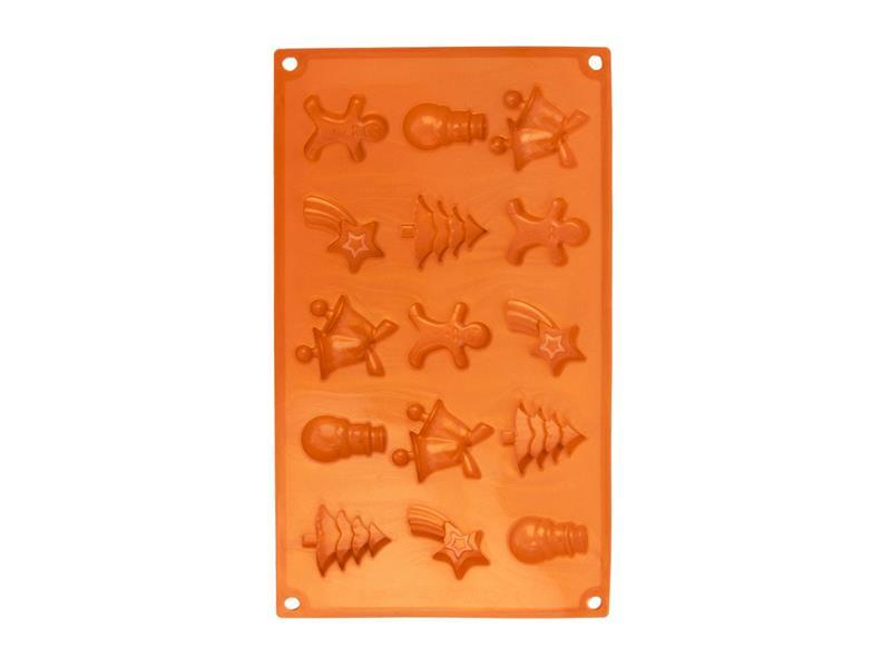 Forma na pečení ORION Christmas 15 silikon oranžová