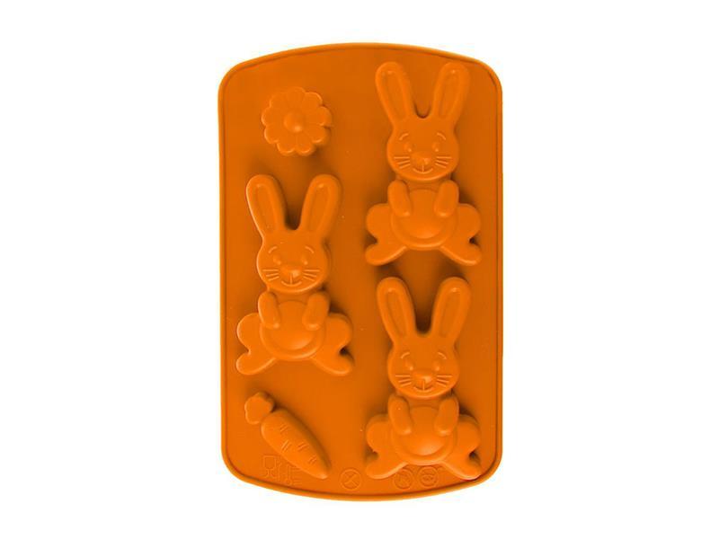 Forma na pečení ORION Zajíc silikon oranžová