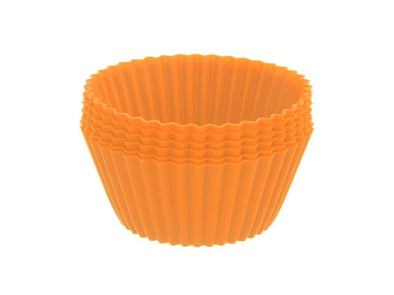 Forma na pečení ORION Muffiny silikon oranžová 12ks