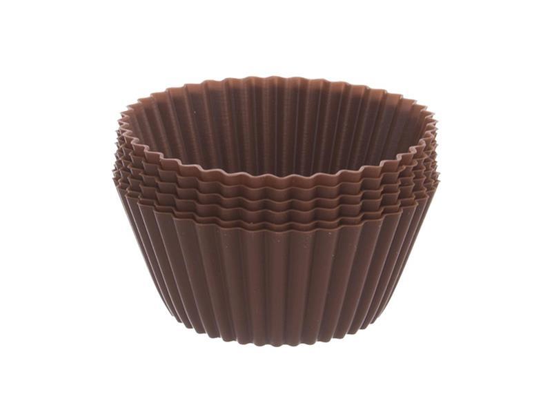 Forma na pečení ORION Muffiny silikon hnědá 12ks