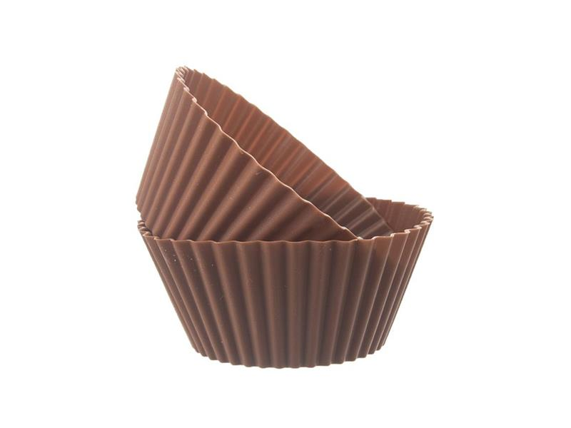 Forma na pečení ORION Muffiny silikon hnědá 6ks