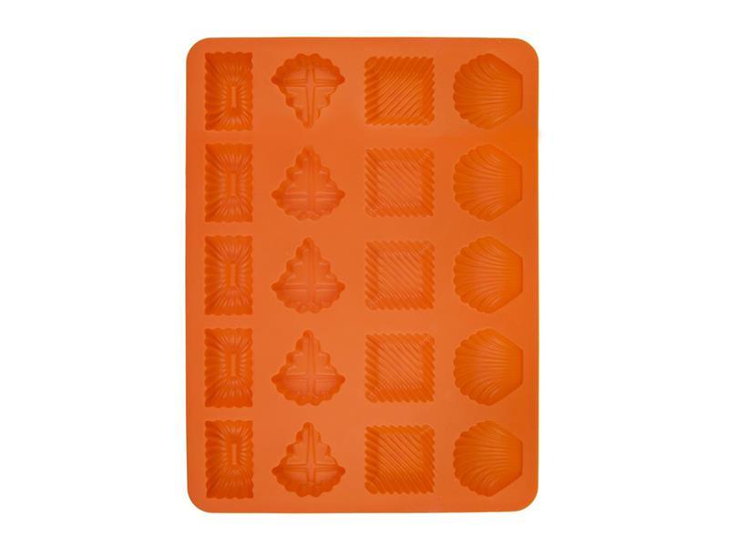 Forma na pečení ORION Pracny 20 mix silikon oranžová