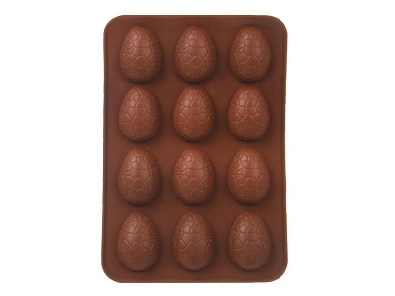 Forma na pečení ORION Vajíčka 12 silikon hnědá
