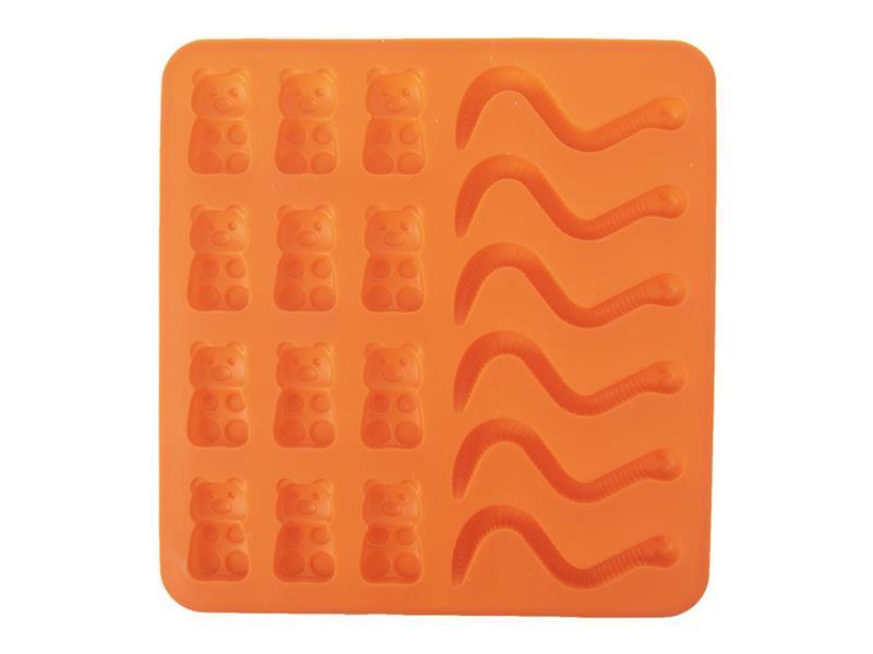 Forma na pečení ORION Figurky silikon oranžová