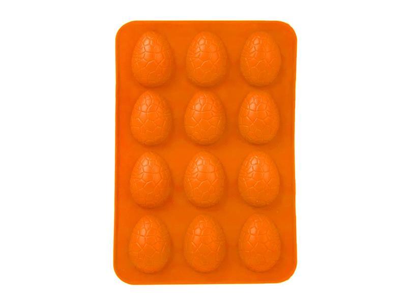 Forma na pečení ORION Vajíčka 12 silikon oranžová