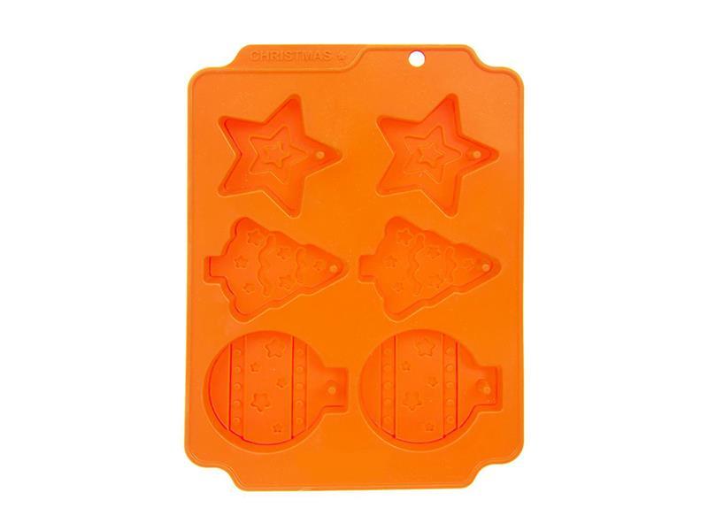 Forma na pečení ORION Vánoce 6 silikon oranžová