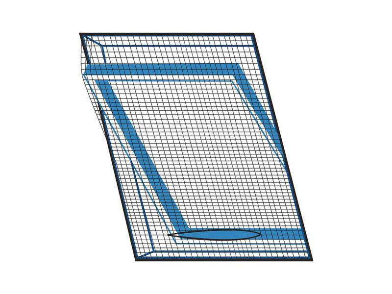 Síť proti hmyzu na střešní okno ORION 120x140 cm černá