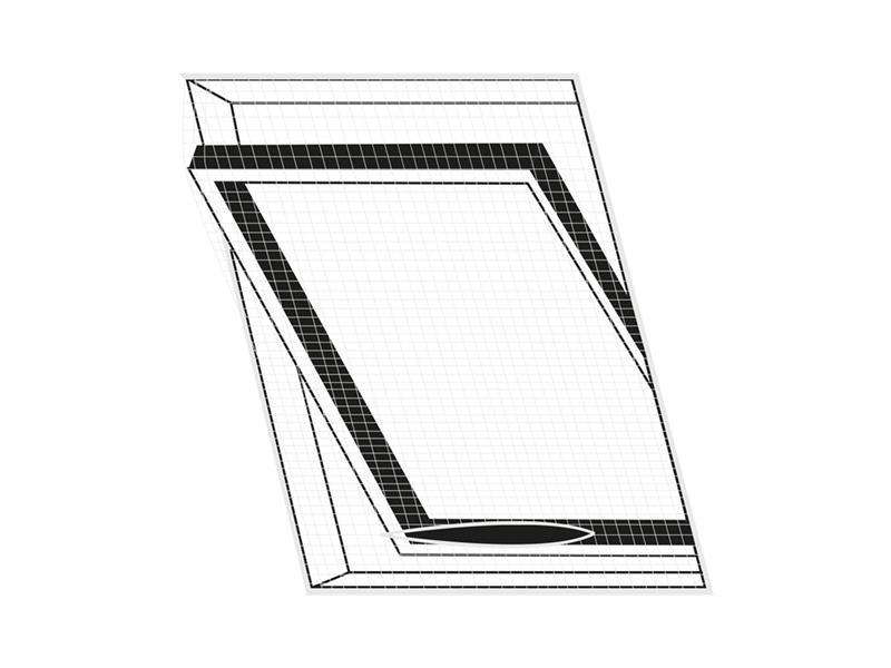 Síť proti hmyzu na střešní okno ORION 120x140 cm bílá