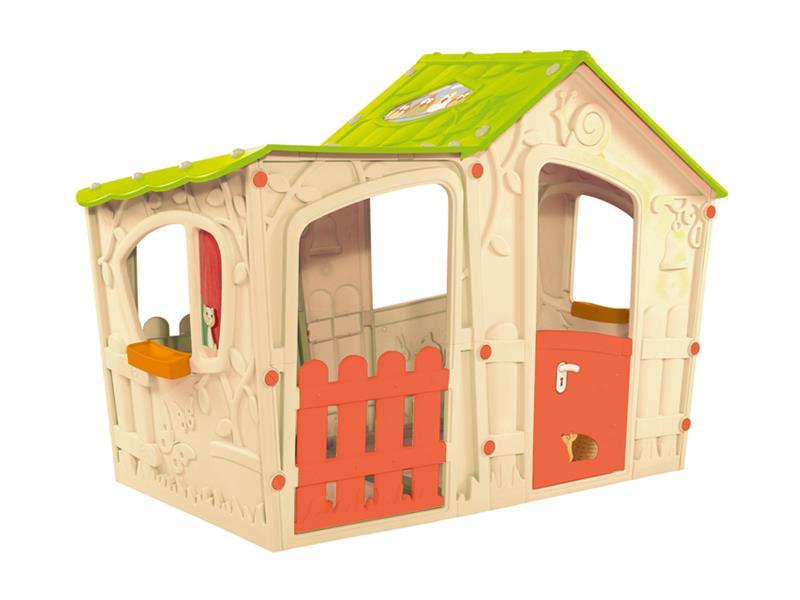 Dětský domeček KETER Magic Villa House béžový / světle zelený