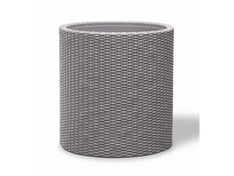 Květináč KETER Cylinder M Silver Grey