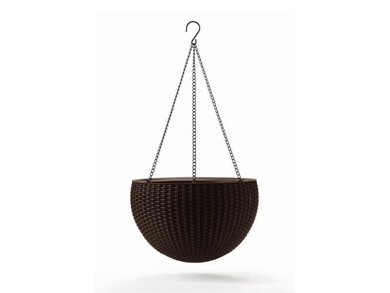 Květináč závěsný KETER Hanging Sphere whiskey Brown