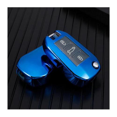 Obal na klíče CITROEN C3/C4/C5/C6 Blue silikon