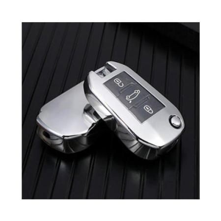 Obal na klíče PEUGEOT 208/307/308 Silver silikon