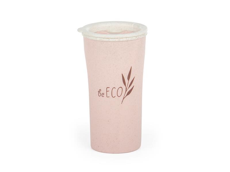 Kelímek s víčkem G21 beECO Latte 450ml růžový