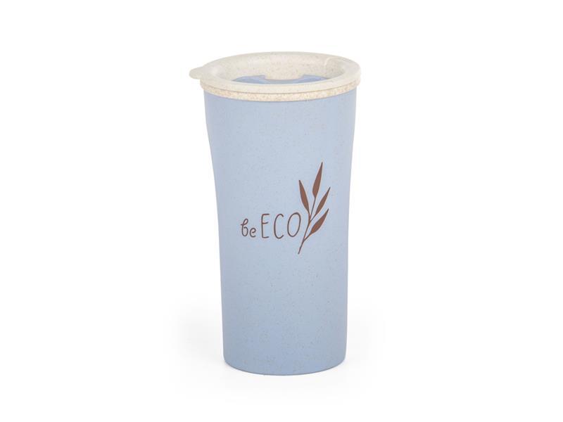 Kelímek s víčkem G21 beECO Latte 450ml modrý