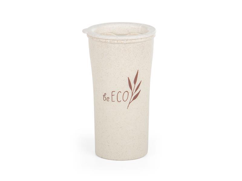 Kelímek s víčkem G21 beECO Latte 450ml béžový