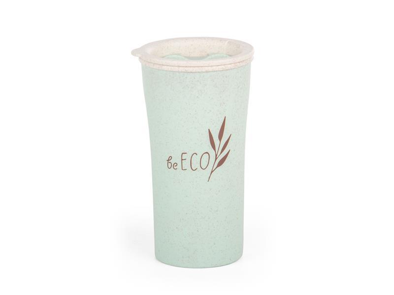 Kelímek s víčkem G21 beECO Latte 450ml zelený