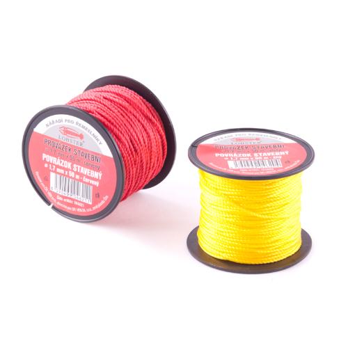 Provázek stavební TES 104620 1,7mmx50m žlutý