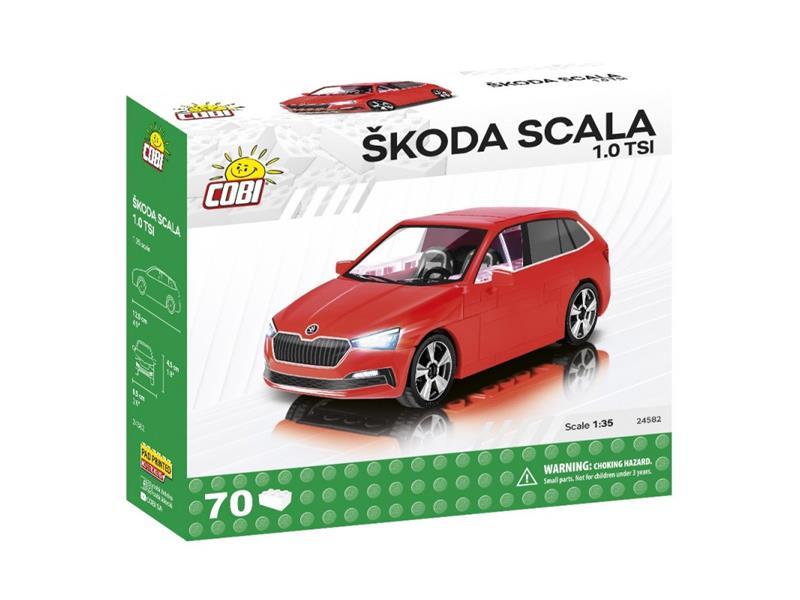 Stavebnice COBI 24582 Škoda Scala 1.0 TSI, 1:35, 70 k