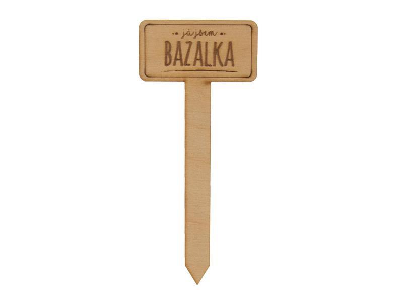 Zápich do květináče ORION Bazalka