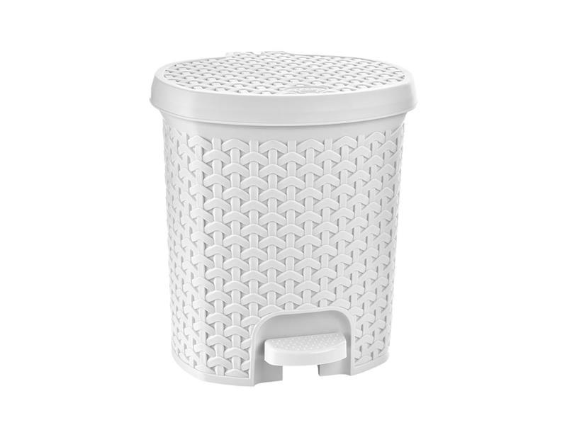 Koš odpadkový ORION Ratan 11,5l bílý