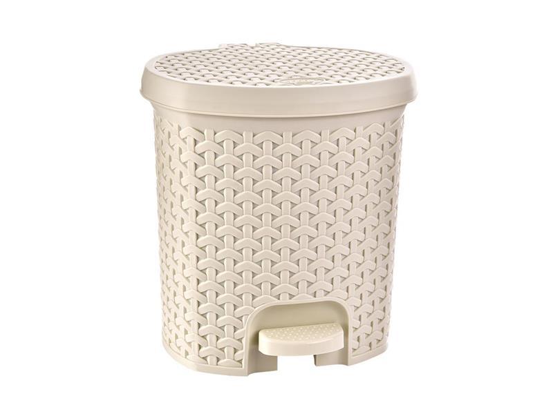 Koš odpadkový ORION Ratan 11,5l krémový
