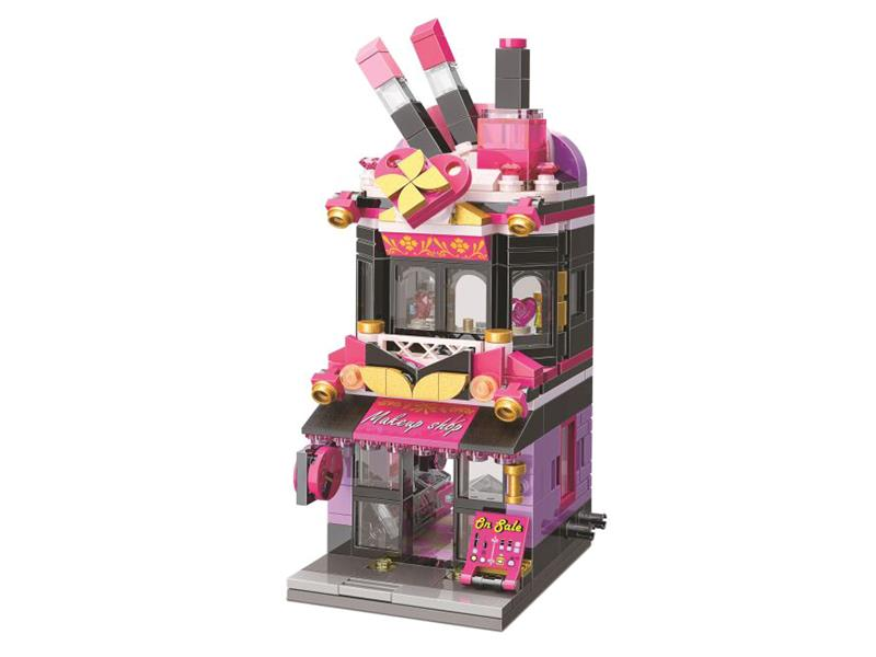 Stavebnice QMAN CITY CORNER C0103 Obchod s kosmetikou Trendy