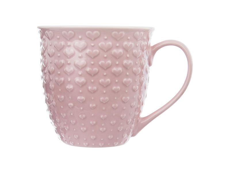 Hrnek ORION Srdce 580ml růžový