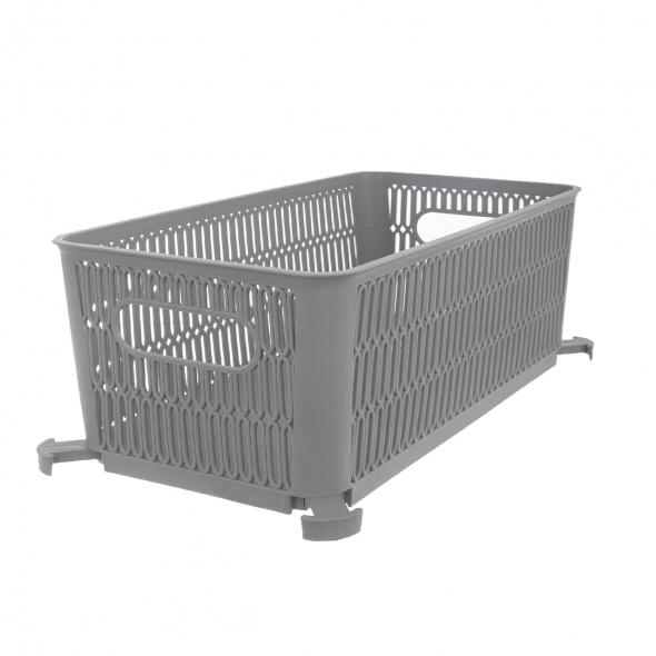 Košík ORION Nesta šedý 29x16,5cm