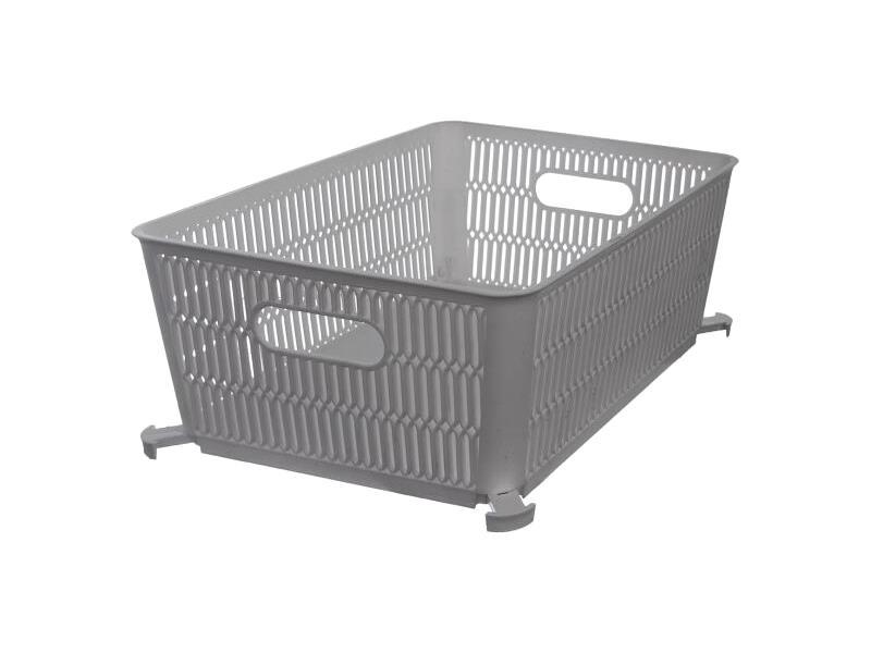 Košík ORION Nesta šedý 28,5x23cm