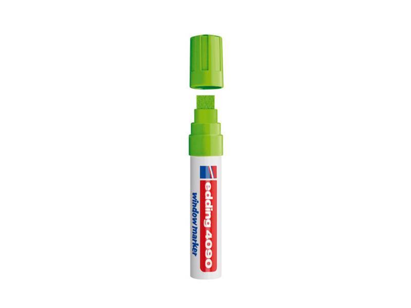 Popisovač křídový na sklo Edding 4090 fluorescenční zelená  4-15mm