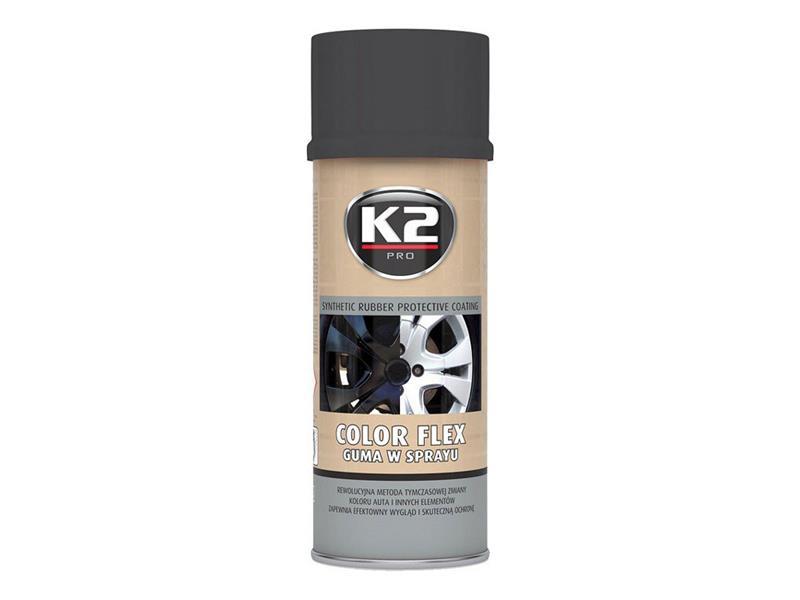 Kaučuk syntetický K2 Color Flex 400ml, černý matný