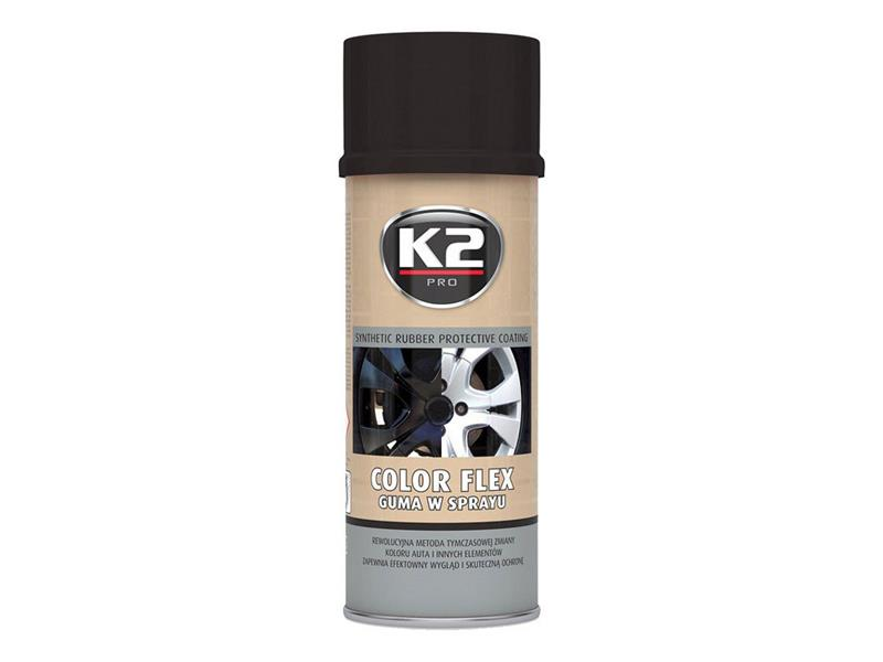 Kaučuk syntetický K2 Color Flex 400ml černý lesklý