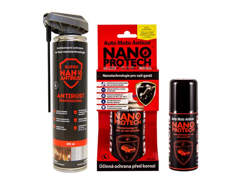 Sprej antikorozní NANOPROTECH AUTO MOTO ANTICOR PROFESSIONAL 300 ml