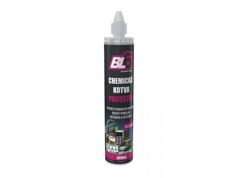 Kotva chemická polyester BL6 - kartuše 300ml /POUZE 1 TRYSKA