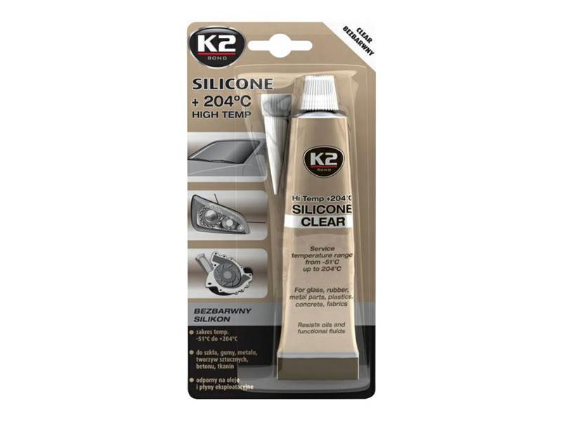Vysokoteplotní čirý silikon K2 SILICONE CLEAR 85g