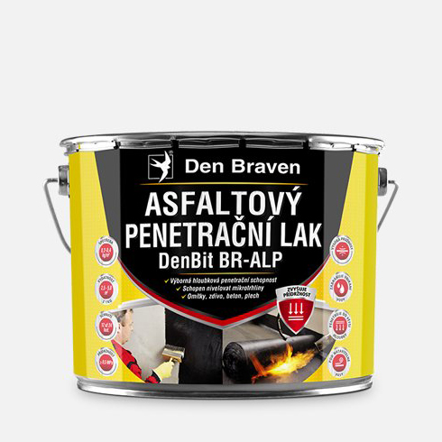Asfaltový penetrační lak DEN BRAVEN DenBit BR – ALP 4,5kg