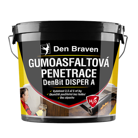 Gumoasfaltová penetrace DEN BRAVEN DenBit DISPER A 5kg