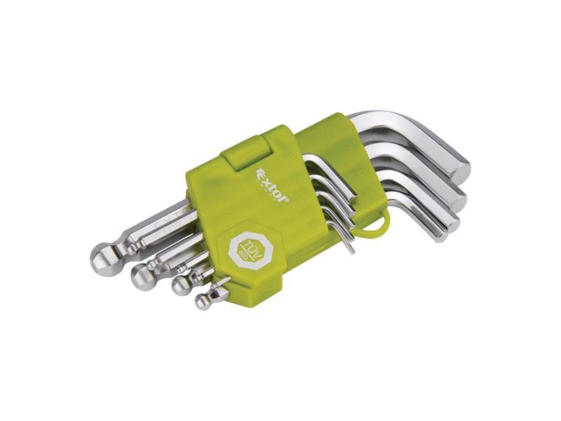 L-klíče imbus krátké, sada 9ks EXTOL CRAFT