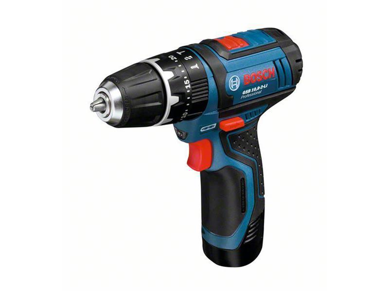 Aku kombinovaný šroubovák Bosch GSB 10,8-2-LI, 2x akumulátor, rychlonabíječka, 06019B6920
