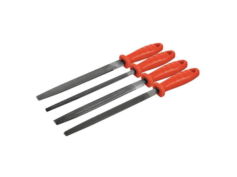 Pilníky, sada 5ks 200mm, plochošpičatý, úsečový, kruhový, tříhranný a čtyřhr., sek 2 EXTOL PREMIUM