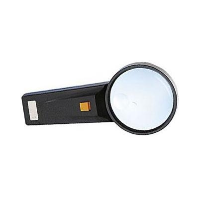 Lupa s osvětlením,průměr 75mm,napájení 2xAA