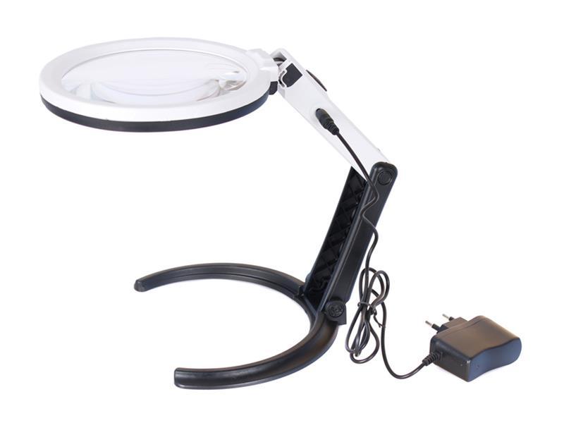 Lupa stolní LEVENHUK ZENO DESK D13 + LED osvětlení