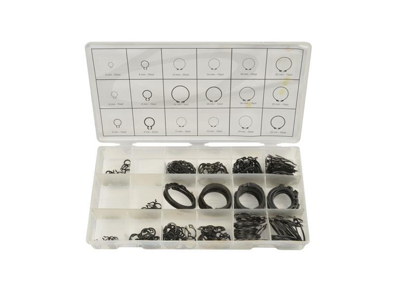 Sada pojistných kroužků 300KS, R1-R19, PR. 3 -32MM, GEKO