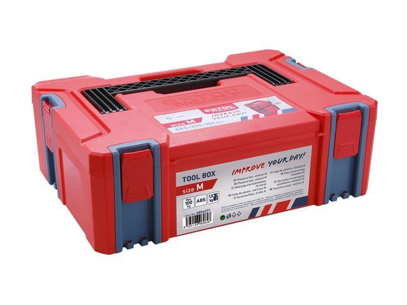 Box plastový, M velikost, rozměr 443x310x151mm, ABS, EXTOL PREMIUM EX8856071