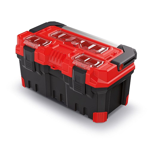 Kufr na nářadí TITAN PLUS červený 496x258x240mm