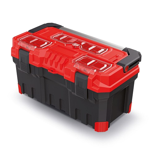 Kufr na nářadí TITAN PLUS červený 554x286x276mm