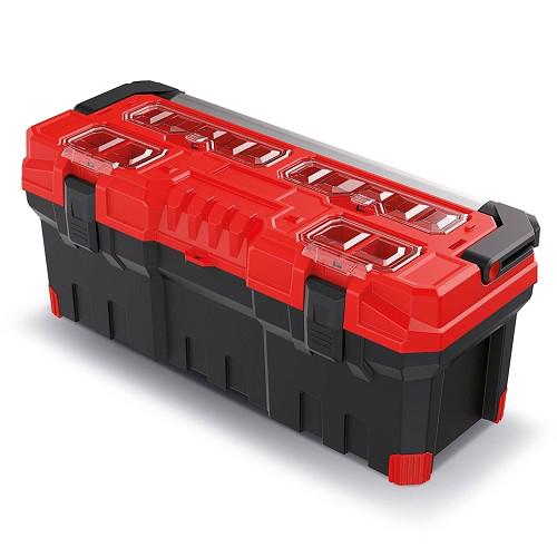 Kufr na nářadí TITAN PLUS červený 752x300x304mm
