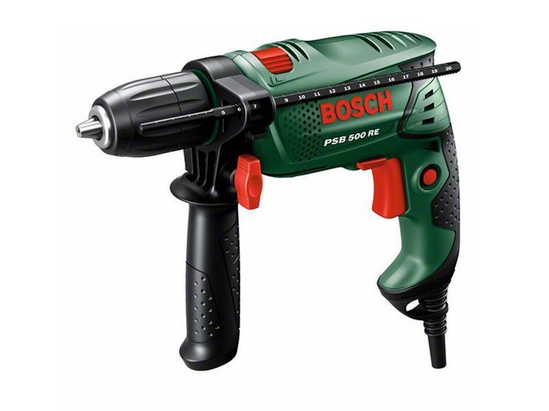 Vrtačka příklepová Bosch PSB 500 RE - kufr, 0603127020